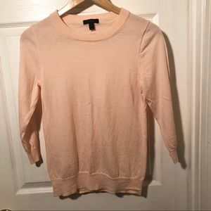 J. Crew Pink Tippi Sweater Classic solid